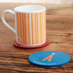 100mm Soft PVC 2D Coaster