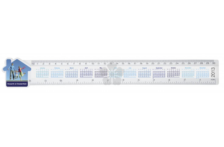 "12"" Shaped Ruler"