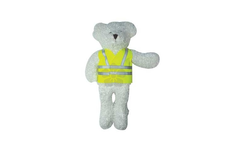 "12"" Snowy Bear with Reflective Jacket"