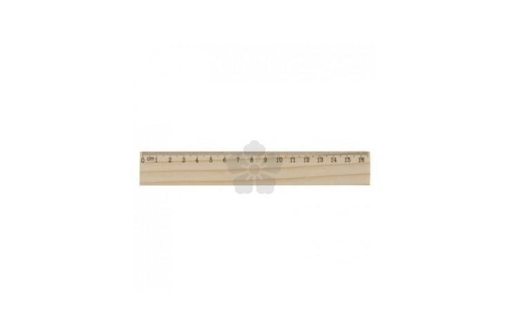 16cm Wood Ruler