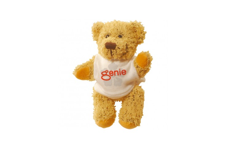 5 inch Korky Bear with White T Shirt