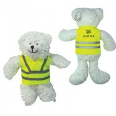 "5"" Snowy Bear with Reflective Jacket"