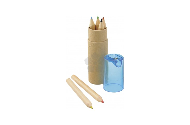 6 Piece Pencil Tube with Sharpener