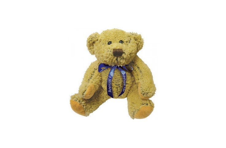 8 inch Korky Bear and Neck Bow