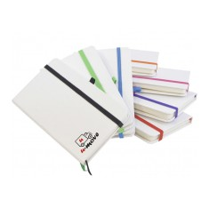 A6 White Hard Back Notepad