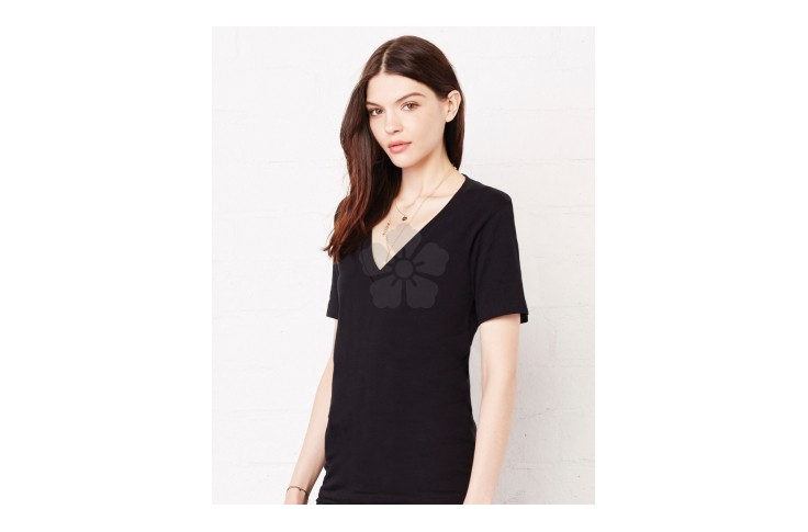 Bella and Canvas Ladies Jersey V-Neck T-Shirt