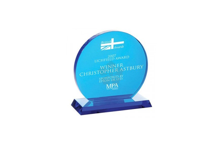 Blue Crystal Round Award