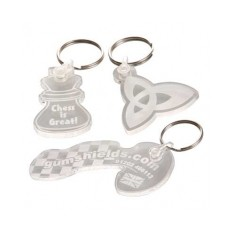 Clear Acrylic Embossed Keyring