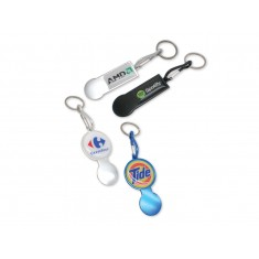 Clip Trolley Coin Keyring