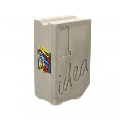 Concrete Pen & Paper Clip Holder
