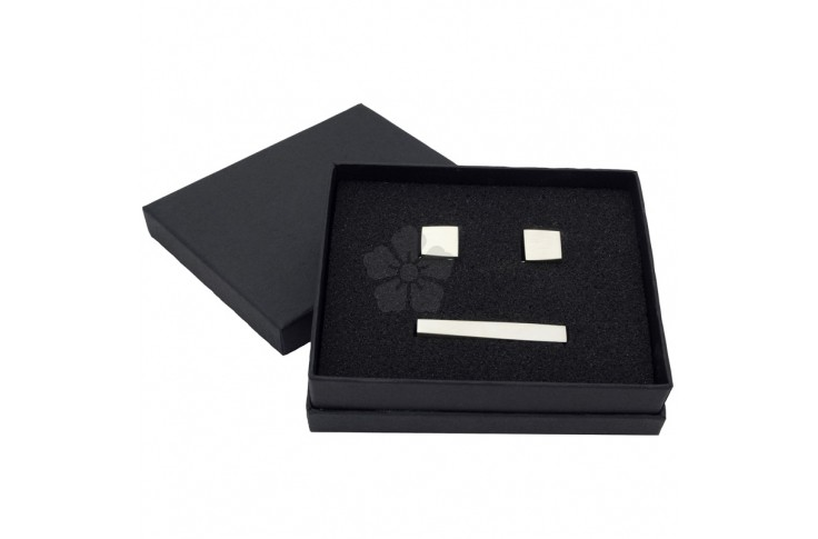Cufflinks and Tie Pin Set