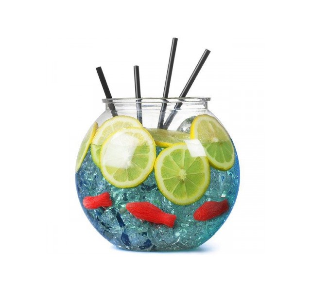 Promotional drinks fish bowl personalised by mojo promotions for Fish bowls drink