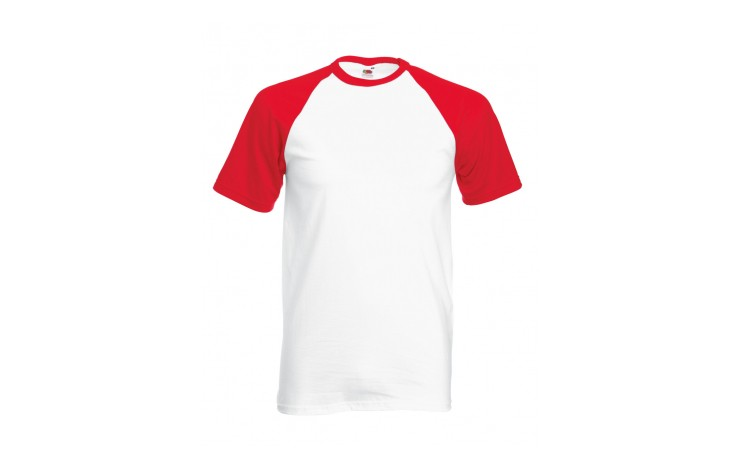 Fruit of The Loom Short Sleeve Baseball T Shirt