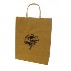 Medium Kraft Paper Bag with Twisted Handles