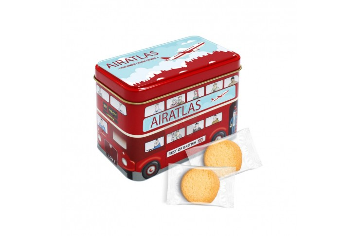 London Bus Tin with Shortbread Biscuits
