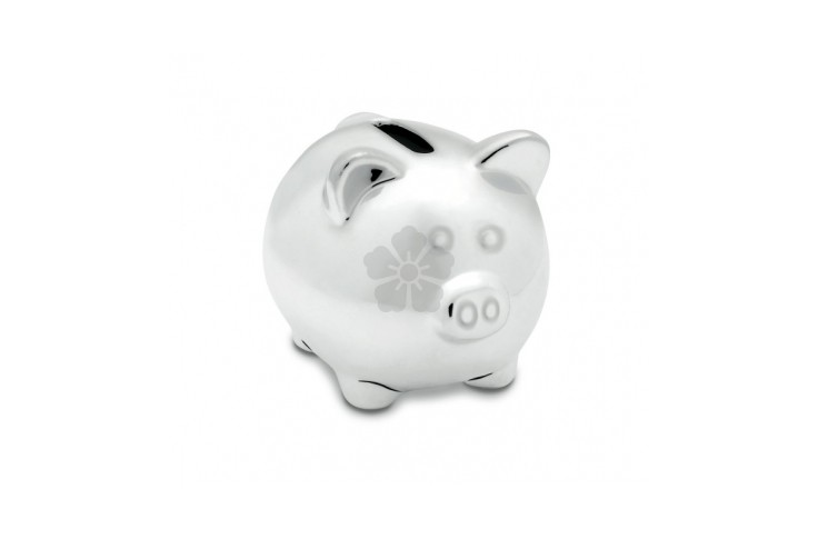 Mini Chrome Piggy Bank