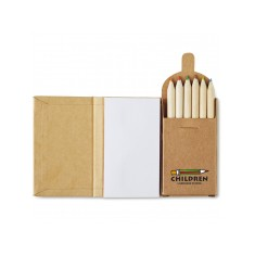 Notebook with 6 Colouring Pencils