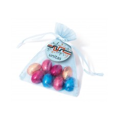 Organza Bag with Foil Wrapped Chocolate Eggs