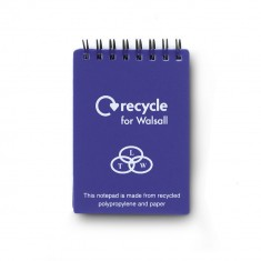 Recycled A7 Polypropylene Notepad
