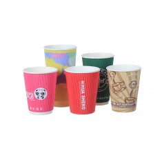 Rippled Paper Cups - 12oz