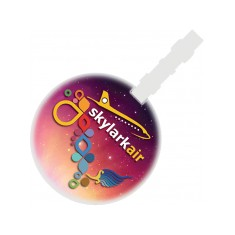 Round Plastic Luggage Tag