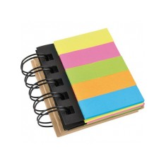Spiral Bound Eco Flag and Sticky Note Pad