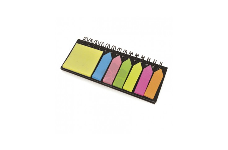 Spiral Bound Ruler & Sticky Note Set