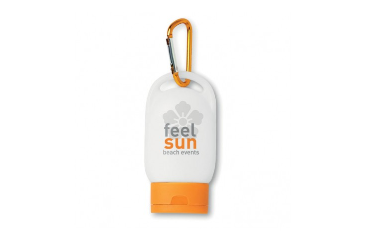 Sunscreen Lotion with Carabiner