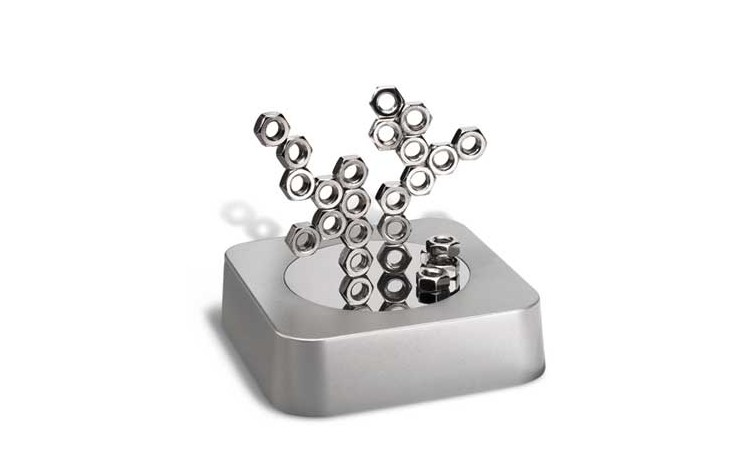 Magnetic Paperweight with Nuts