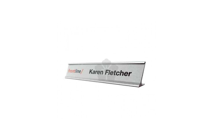Metal Name Plate Holders