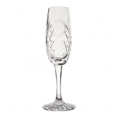 165ml Glencoe Lead Crystal Panel Champagne Flute
