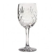 285ml Glencoe Lead Crystal Panel Goblet
