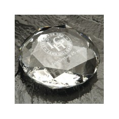 70mm Crystal Facet Paperweight