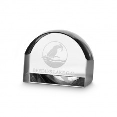 8cm Optical Crystal Magnifying Paperweight