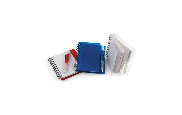 A6 Plastic Notebook with Pen