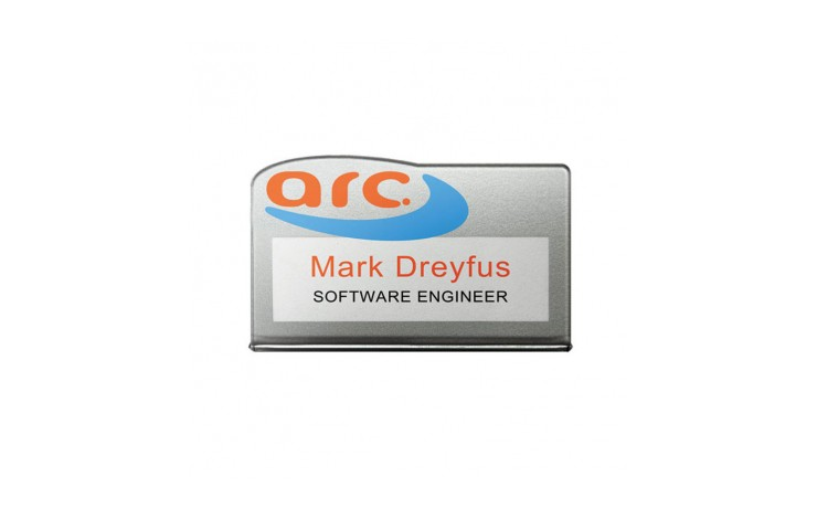 Clear Acrylic Re-usable Name Badges