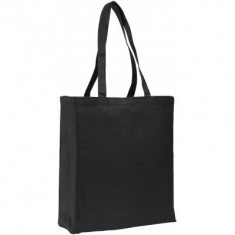 Allington 12oz Black Cotton Canvas Shopper