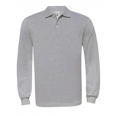 B & C Long Sleeve Cotton Polo