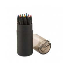 Black 12 Pencil Tube