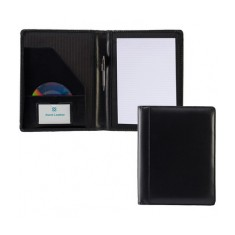 Black Ascot Leather A4 Folder