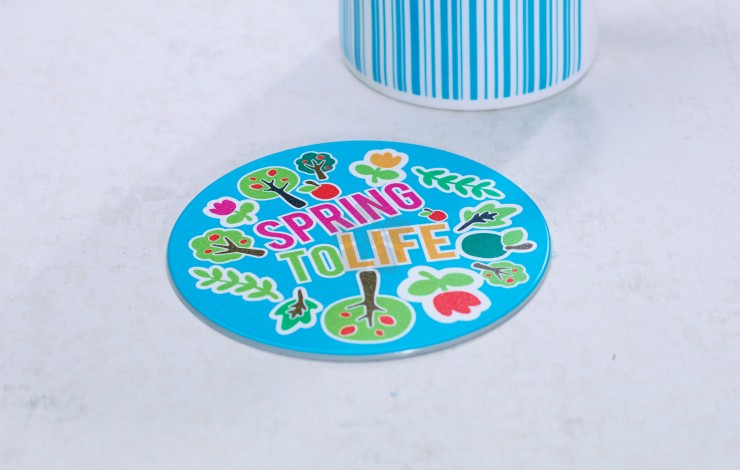 Promotional Brite Mat Coaster Personalised By Mojo Promotions