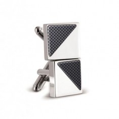 Carbon Fibre Square Cuff Links