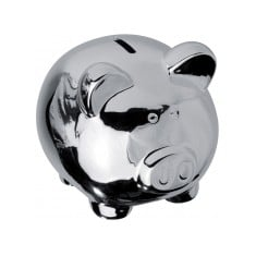 Chrome Piggy Bank