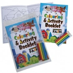 Colouring Book with 4 Pack of Pencils