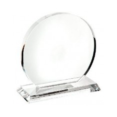 Crystal Trophy Plaque