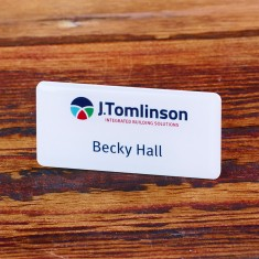 Digitally Printed Metal Name Badges