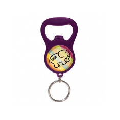 Domed Bottle Opener Keyring