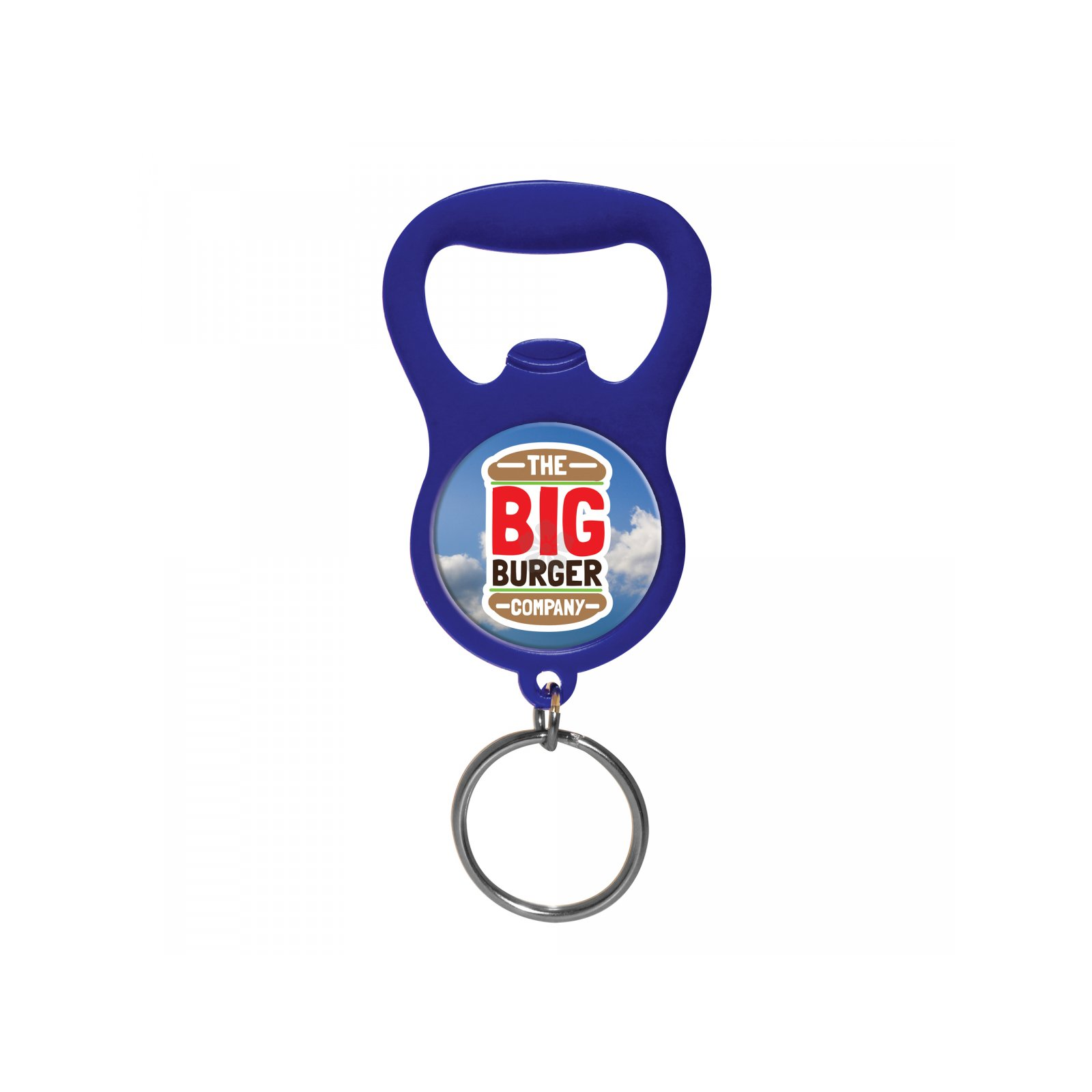promotional domed bottle opener keyring personalised by mojo promotions. Black Bedroom Furniture Sets. Home Design Ideas
