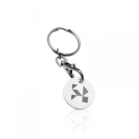 Promotional personalised plastic keyrings mojo promotions plastic keyrings eco trolley coin keyring reheart Gallery