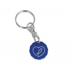 Eco Trolley Coin Keyring - New Shape